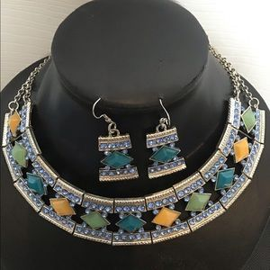 Multicoloured Necklace Set